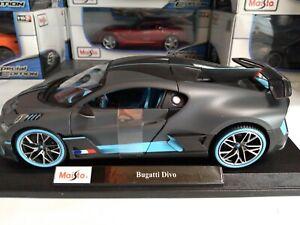 1-18-Maisto-escala-Diecast-Modelo-Coche-Bugatti-Divo-Nuevo-en-caja-de-edicion-especial