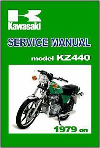 Kawasaki Workshop Manual Kz440 Ltd Z440 1979 1980 1981 Service And Repair Ebay