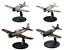 Lot de 4 Avions WW2 Japonais Mitsubishi 1//72 militaire diecast DeAgostini
