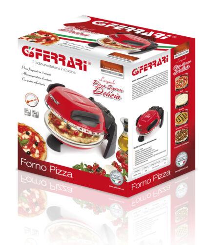 G3 FERRARI ELETTRICO ITALIANO DA FORNO PER PIZZA PIETRA REFRATTARIA Cottura Base 1200w Nero