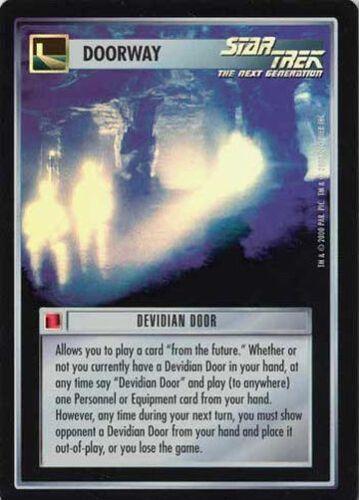 Star Trek CCG Reflections Devidian Door SRF Super Rare Foil