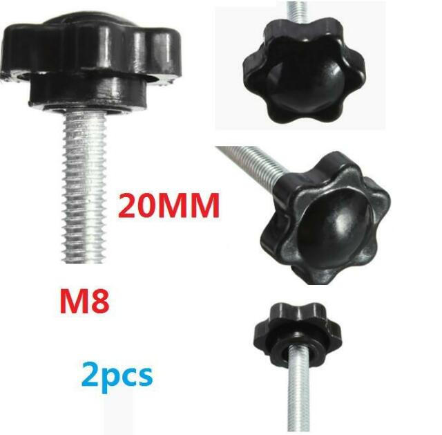 uxcell M8 x 40mm Male Thread Knurled Clamping Knobs Grip Thumb Screw on Type 7 Pcs