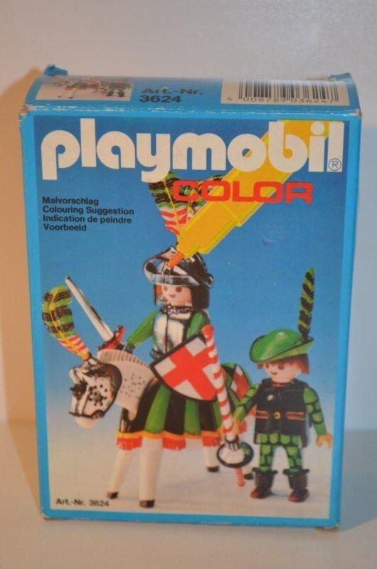 8363 playmobil Farbe ridders 3624 MIB  TOP RARE