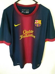 brand new 2ea16 ab22c Details about NIKE Authentic Barcelona Jersey Size XL Dri-Fit Home Shirt  FCB Barca Shortsleeve