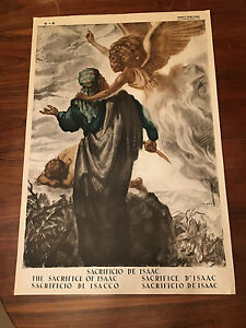 Used-Religieux-Poster-The-Sacrifice-Of-Isaac-Poster-Religieux-103-X-70-CM