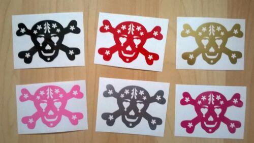 Sugar Sculls /& Crossbones Vinyl Stickers for decoration stationery tattoo goth