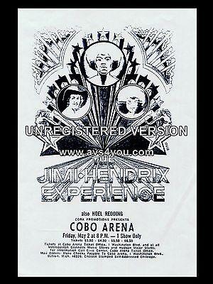 "Jimi Hendrix Cobo 16/"" x 12/"" Photo Repro Concert Poster"