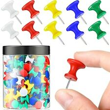200 Pieces Jumbo Push Pins 1 Inch Giant Pushpins Assorted Colors Map Thumb Ta