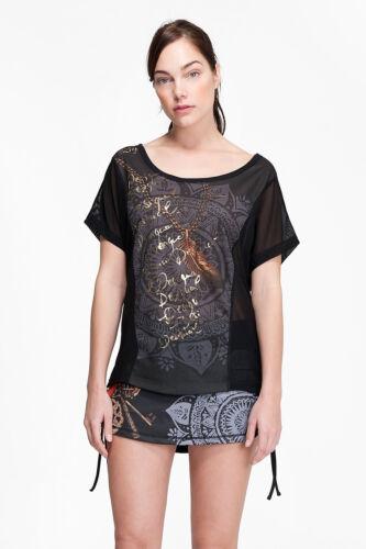 kollektion Desigual Sport Oversize T s l Shirt Negro G ts BUq6U