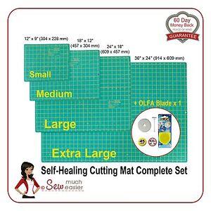 Self Healing Cutting Mats X4 Olfa Blade X1 Rotary Cutter