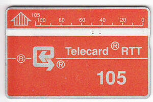 EUROPE-TELECARTE-PHONECARD-BELGIQUE-105U-L-amp-G-RARE-002C-NOTCHED