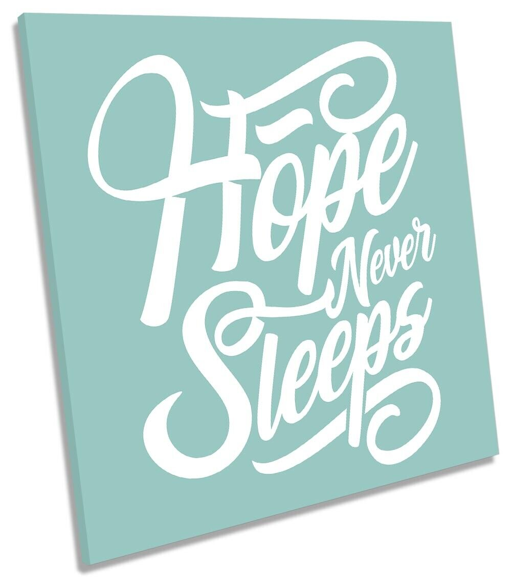 Hope Never Sleeps Quote Picture Picture Picture CANVAS WALL ART Square Print 8bcafe