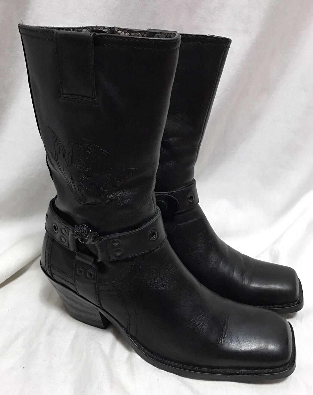 risparmia fino al 70% di sconto Siren Mark Nason Leather Harness stivali stivali stivali nero Rockabilly Donna  7.5M 69161 rosa  Garanzia di vestibilità al 100%