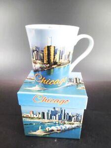 Chicago Tasse à Café Gobelet, Souvenir Tasse Usa Avec Photo Poison Box, Coffee Mug-r Tasse Usa Mit Foto Gift Box,coffee Mugfr-fr Afficher Le Titre D'origine