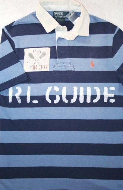 996acb745 Polo Ralph Lauren Rugby Custom Fit RL Guide Kayak River Rafting Shirt S NWT