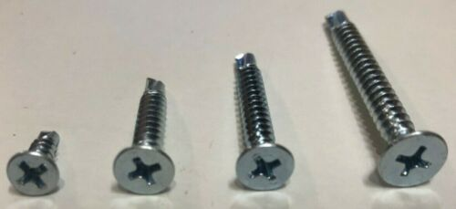 Philips BZP. 10g Countersunk Head Self Drilling//Self Tapping Screw 6g