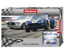 CARRERA 25201 FAST CLASSICS SHELBY COBRA MUSTANG EVOLUTION 1/32 SLOT CAR SET