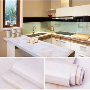 Marble Wall Sticker Self Adhesive Peel Stick Wallpaper Pvc Kitchen Countertop Ebay
