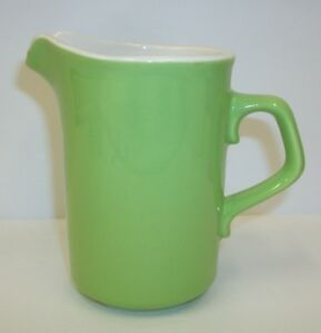Vintage-Green-Pottery-Cream-Pitcher