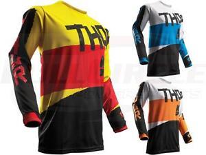 Thor-MX-Riding-Racing-Jersey-Pulse-Taper-Dirt-Bike-Motocross-ATV-UTV-Off-Road