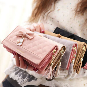 Luxury-Women-PU-Leather-Clutch-Wallet-Long-Card-Holder-Purse-Box-Handbag-Bags