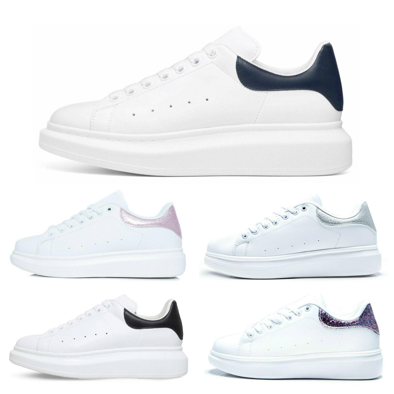 Nuevas zapatillas para mujer plataforma Gruesa Suela de goma SNEAKERS zapatos señoras LOW TOP SNEAKERS goma aa851f