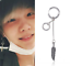 Lots-KPOP-BTS-V-Earrings-Bangtan-Boys-V-Stud-Doulbe-Ring-Chain-Earrings-Fashion