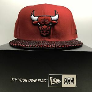 ac2ba6768f5 New Era 59Fifty Chicago Bulls Leather 7 1 4 Fitted Baseball Cap 2 ...