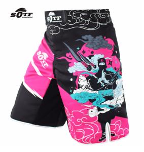 MMA Pink Ninja Fight Training Boxing Trunk Shorts Muay Thai Jiu-Jitsu Pants