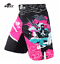 MMA Pink Ninja Fight Training Boxing Trunk Shorts Muay Thai Jiu-Jitsu Pants