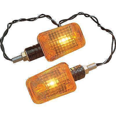 K/&S Mini-Stalk Marker Lights Carbon with Amber Lens