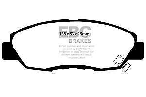 DP812 EBC Ultima Pastillas Freno Delantero para Honda Accord Aerodeck Coupe