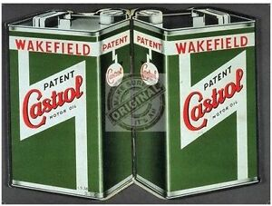 Castrol Motor Oil Can Vintage Wakefield Car Engine Classic, Large Metal Tin Sign