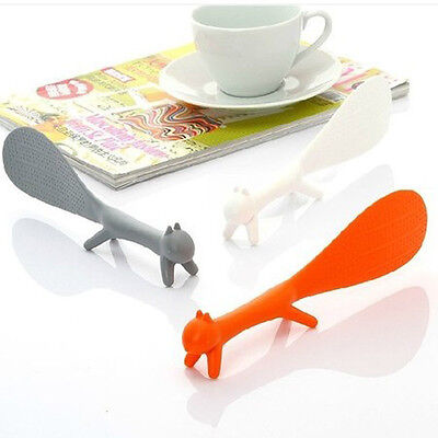 Multicolor Cute Non Stick Rice Squirrel Shaped Meal Spoon Ladle Novelty Tool