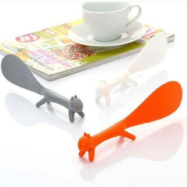 Kitchen Appliance Pattern Non-Stick Rice Paddle Scooper Meal Spoon Orange