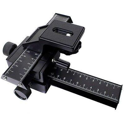 4 Way Macro Focusing Rail Slider Set For Photography Nikon Canon Sony SLR Camera