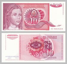 Jugoslawien / Yugoslavia 10 Dinara 1990 p103 unz.