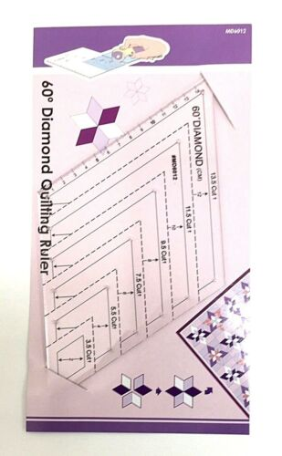 Multi Size 60 Degree Diamond Template for Patchwork//English Paper Piecing