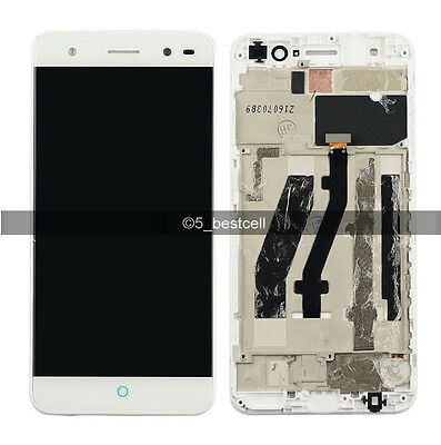"White 5.0"" ZTE Blade V7 Lite Touch Digitizer Screen+LCD Display Assembly+Frame"