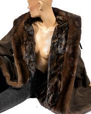 L Mantel Pelzfutter Nerzmantel Nerz Pelz mink fur lining coat Alcantara