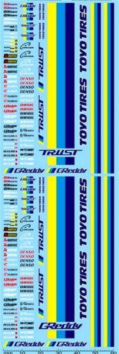 JDM strassenrennen street racing No 24 patrocinadores arco 1:24 decal estampados