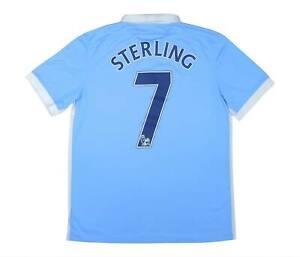 Manchester City 2015-16 ORIGINALE HOME Sterling #7 (eccellente) L soccer jersey