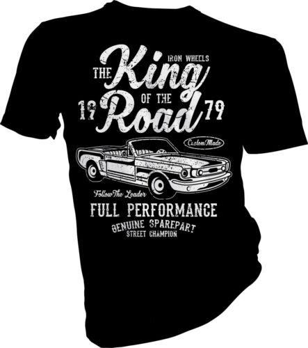 Ford Mustang Custom CRAS Adulti /& Bambini T-shirt Il RE DELLA STRADA AUTO