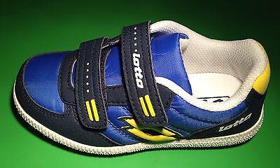 LOTTO wasserabweisendes Obermaterial Sportschuhe Tiago  blau + gelb GR. 28 NEU