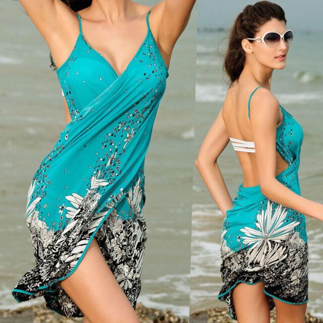 Women Fashion Summer Beach Dress Bikini Swimwear Cover Up Sarong Sexy Wrap Pareo