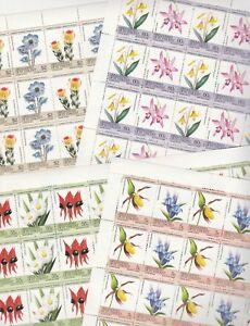 Agressif St Vincent Grenadines 7263 - 1985 Fleurs X 25 Sets Genuine Format Feuilles-afficher Le Titre D'origine