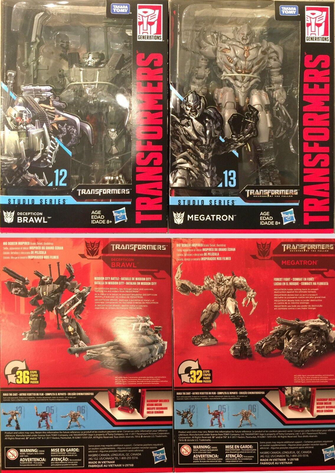 Transformers Studios Serie Voyager Wave 2 Decepticon Brawl Y Megatron - 2 Pcs