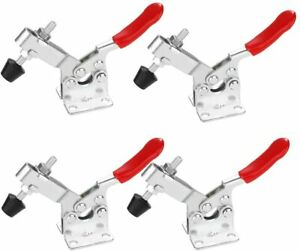 4x GH-201A 201-A Metal Horizontal Toggle Clamps Quick Release Hand Tool Fixture