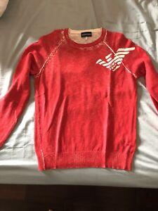 Suéter cuello Emporio con Armani redondo qfq1wT