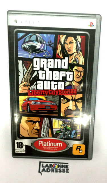 PSP JEU VIDEO GRAND THEFT AUTO LIBERTY CITY STORIES -COMPLET - VERSION PLATIIUM